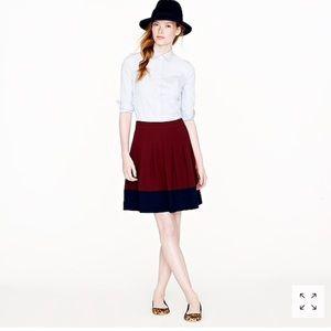 J. Crew Color Block Skirt Crape Fully Lined